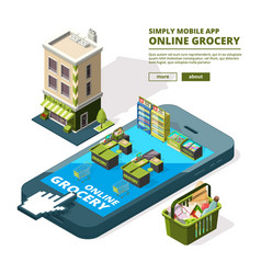 concept of online shopping buying vector image vector image