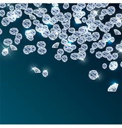 Diamonds falling on blue background vector