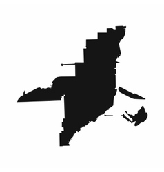 Florida map icon simple style vector