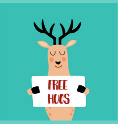free hugs vector image vector image