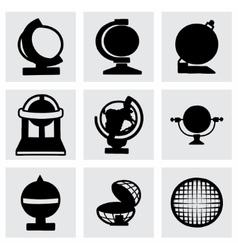 Globe icon set vector image
