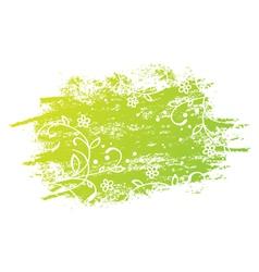 Grunge Floral Green Design vector image vector image