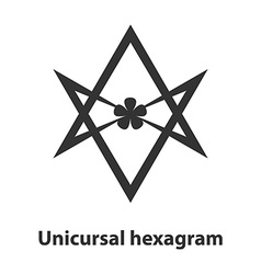 Icon of unicursal hexagram symbol thelema religion vector