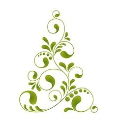 Orante christmas tree vector