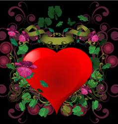 ornament heart vector image