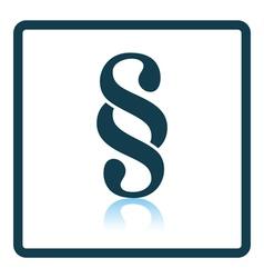 Paragraph symbol icon vector image vector image