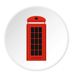 Phone booth icon circle vector