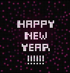 pixel happy new year vector image vector image