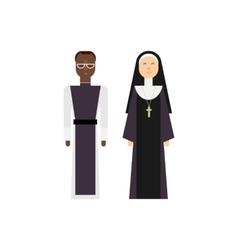 Protestantism religious men and women vector