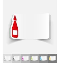 Realistic design element ketchup vector