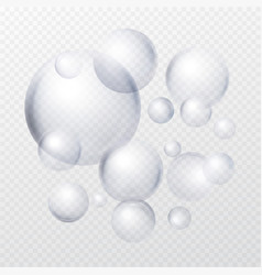 soap bubbles isolated on transparent background vector image