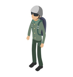 Soldier icon isometric 3d style vector