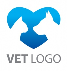 template mark veterinary vector image vector image