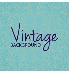 Vintage frame with floral pattern vector image vector image