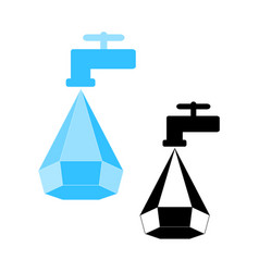 Water conservation logo vector