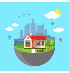 Urban home earth concept vector