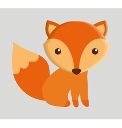 Fox animal cute little design vector