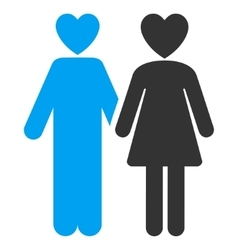 Lovers flat icon vector