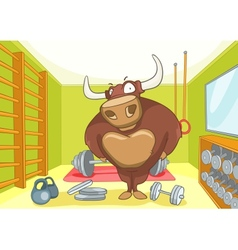Cartoon character bull vector