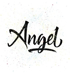 T-shirt printing logo template angel vector