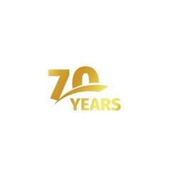 Isolated abstract golden 70th anniversary logo on vector