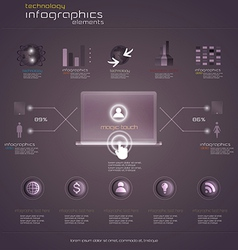 Purple infograph vector
