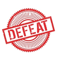 Defeat stamp rubber grunge vector