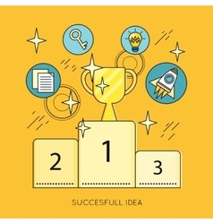 Successful idea banner in flat style design vector
