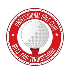 golf club ball icon vector image