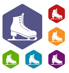skates icons set vector image