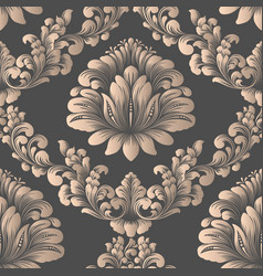 Damask seamless pattern element elegant vector