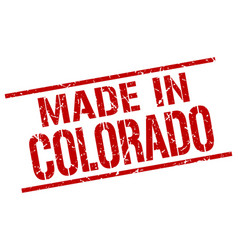 made in colorado stamp vector image