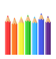 Rainbow of colored pencils vector