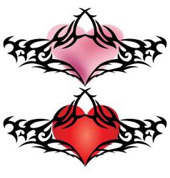 Heart shape wthe barb tattoo design for valentine vector
