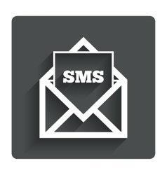 Mail icon Envelope symbol Message sign vector image