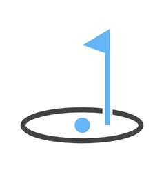 Golf post vector