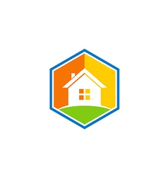 House realty icon color simple logo vector