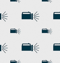 Flashlight icon sign seamless pattern with vector