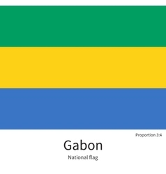 National flag of gabon with correct proportions vector