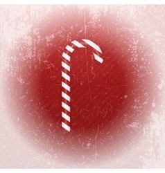 Realistic christmas sweet candy cane with shadow vector