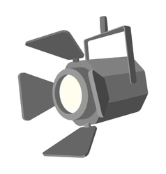 Movie spotlight cartoon icon vector