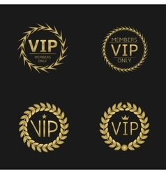 Vip laurel wreaths vector