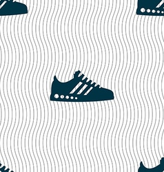 Sneakers icon sign seamless pattern with geometric vector