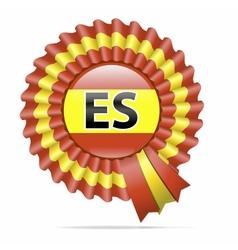 national flag badge ES vector image