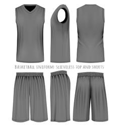Basketball black uniform vector image