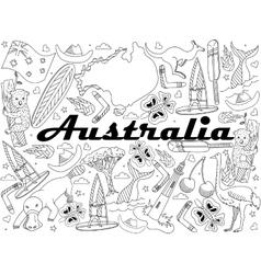 Australia Coloring vector image