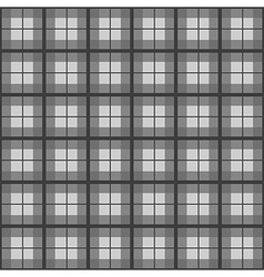 Black white tartan background vector