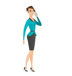 Business woman talking on a mobile phone vector