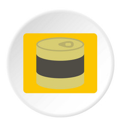Closed tin can icon circle vector