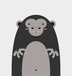cute big fat gorilla vector image vector image